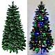 摩達客 6尺(180cm) 彈簧摺疊豪華松針混葉綠色聖誕樹+LED100燈串彩光一條 product thumbnail 1