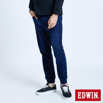 EDWIN JERSEYS 迦績 EJ6 透氣運動束口牛仔褲-男-酵洗藍