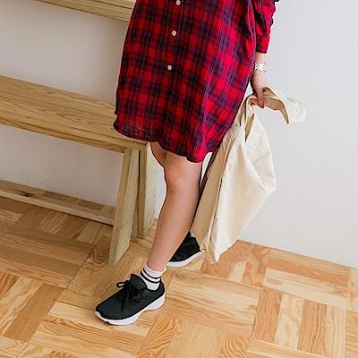 太空羽絨系列~透氣網布拼接輕量大底運動鞋.5色-OB大尺碼
