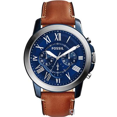 FOSSIL Grant 系列 羅馬時標計時腕錶(FS5151)44mm