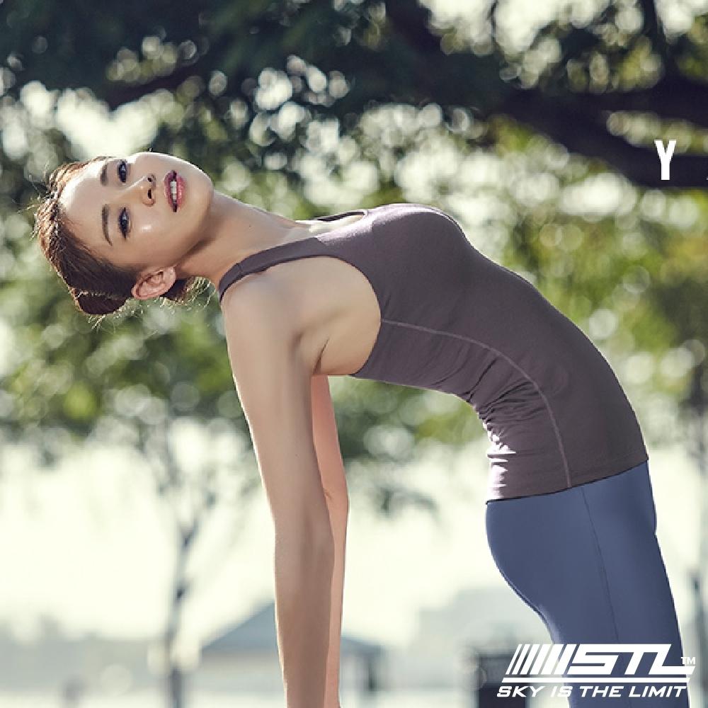 STL yoga bra T SS Balance Slim 韓國瑜珈 運動機能訓練背心上衣(含胸墊)平衡紫