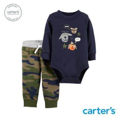 Carter's台灣總代理 狗狗迷彩2件組套裝