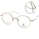 SEROVA眼鏡 韓風知性圓框款/金 # SC155 C1
