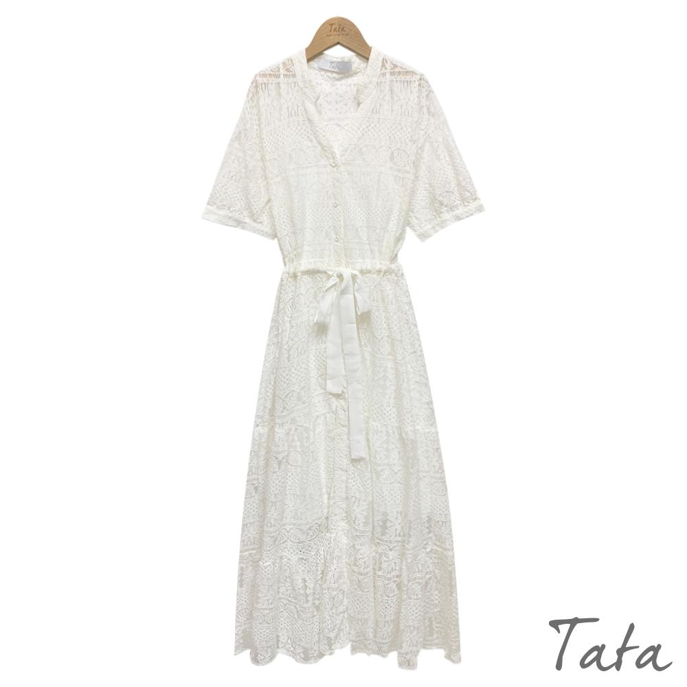 蕾絲縷空兩件式洋裝 共二色 TATA-F