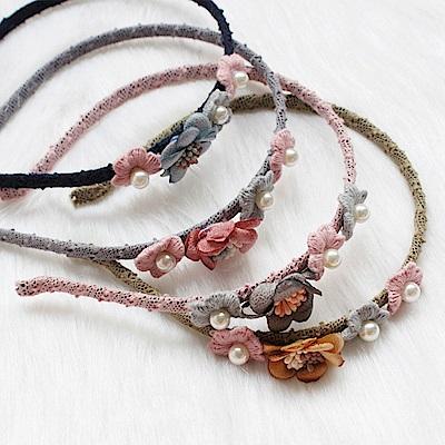Hera 赫拉 小仙女花朵珍珠髮箍-4色