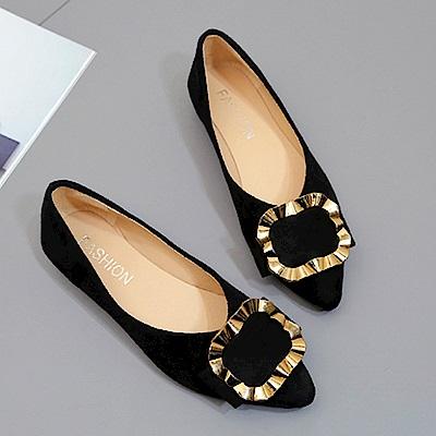 韓國KW美鞋館 歡樂單品絕美經典平底鞋-黑色