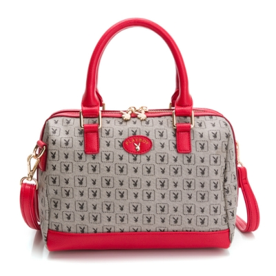 PLAYBOY-  手提包附長背帶 kalos系列-紅色