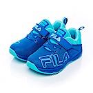 FILA KIDS中童電燈TPR慢跑鞋-藍 2-J827S-333