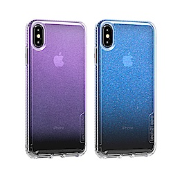 Tech21英國抗衝擊PURE Shimmer防撞硬式保護殼-虹彩iPhoneX/Xs