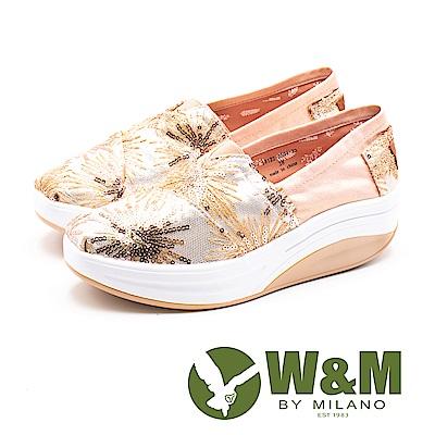 W&M(女) BOUNCE系列 煙花爛漫 透氣增高厚底鞋-金(另有銀)