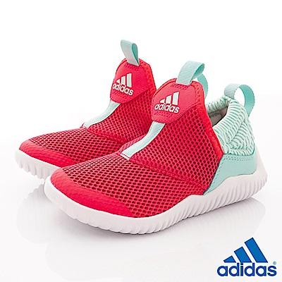 adidas童鞋 簡約輕便休閒鞋款 NI6852紅(中小童段)