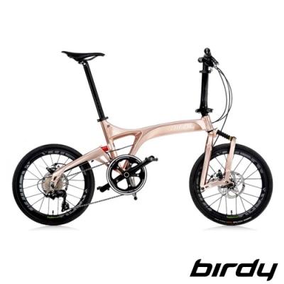 Birdy NewBirdyⅢ R 11SP 11速20吋公路車幾何前後避震折疊車-玫瑰金