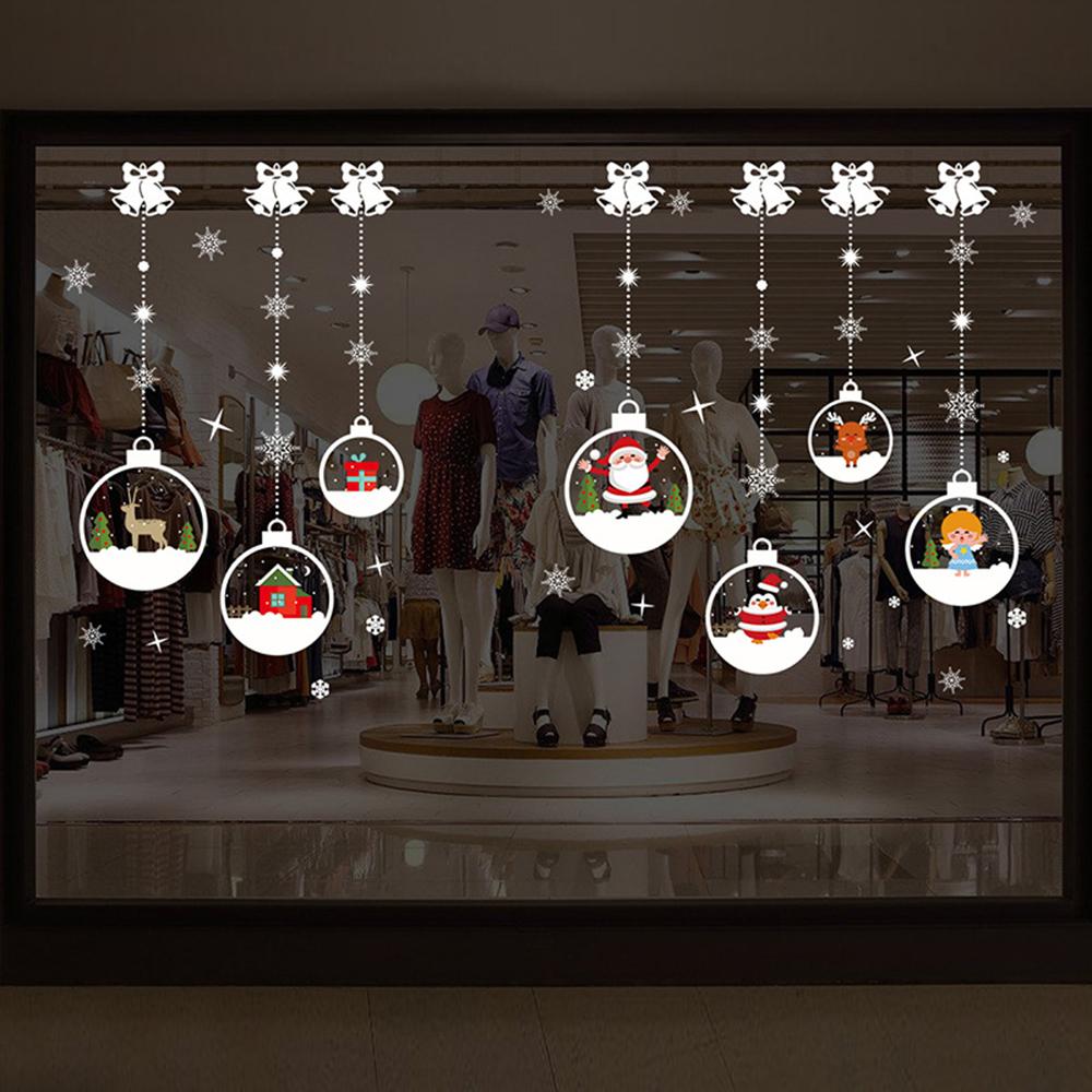 半島良品 聖誕壁貼-卡通水晶球 XH7244 50x70cm