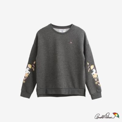 Arnold Palmer -女裝-袖子主題刺繡衛衣-灰