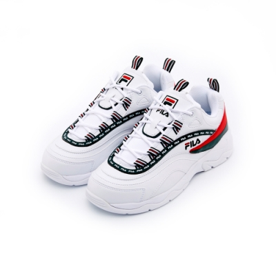 FILA RAY 女運動鞋-白/綠 5-C614T-124