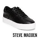 STEVE MADDEN-LUCK 純色綁帶厚底鞋-黑色