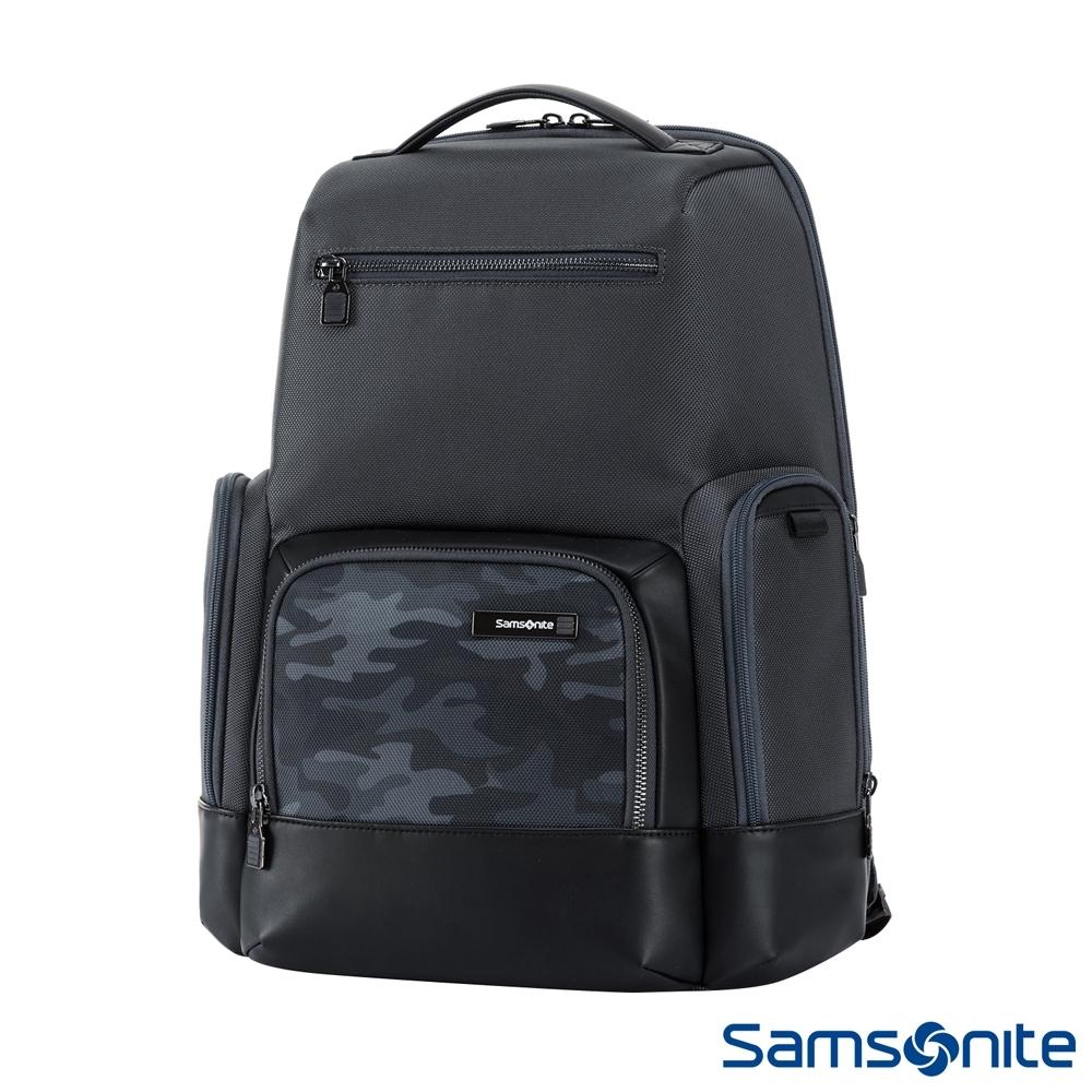 (6/1 10:00 ~6/21 10:00 送超贈點700) Samsonite新秀麗 Sefton商務智慧型筆電後背包14(迷彩)