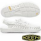 KEEN 1014100白色 Uneek女專業戶外護趾編織涼鞋