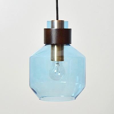 bnatural 水藍色寬酒瓶造型吊燈 BNL00122