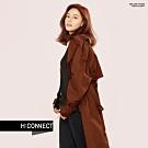 【周慶限量款】H:CONNECT 韓國品牌 女裝-帥氣翻領雙排釦風衣-棕