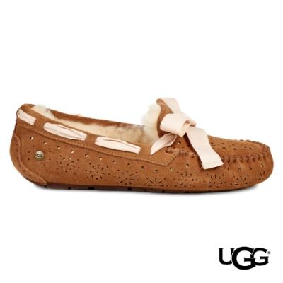 UGG女士 Dakota Sunshine 緞帶蝴蝶結樂福鞋