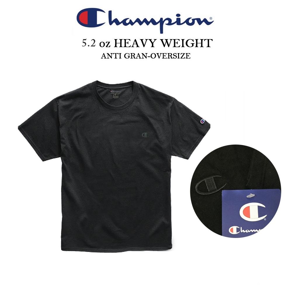 CHAMPION冠軍左胸電繡C短T 美線T0223