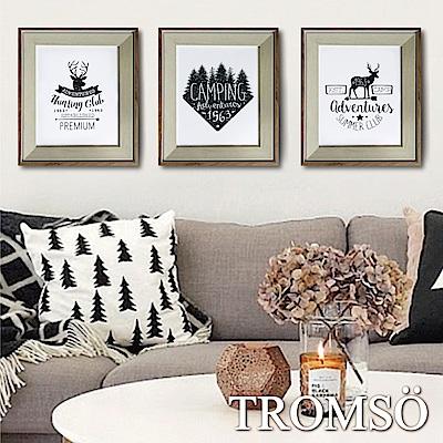 TROMSO北歐格調金屬木紋8X10相框三入組-探索麋鹿