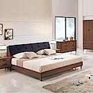 時尚屋 詠昶淺胡桃6尺加大雙人床(不含床頭櫃-床墊)