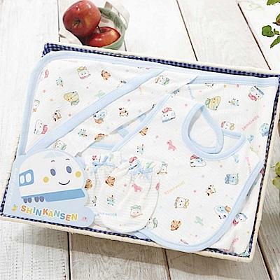 【麗嬰房】三麗鷗系列-新幹線包巾禮盒組