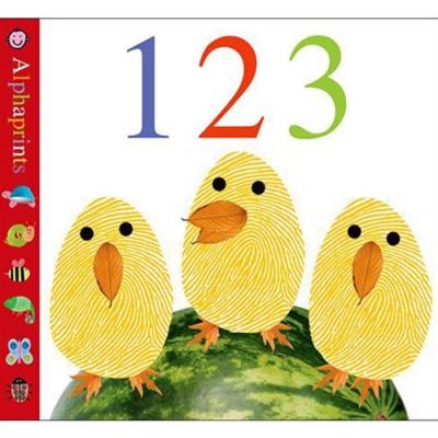 Alphaprints:123 手指印字母書123篇(美國版)