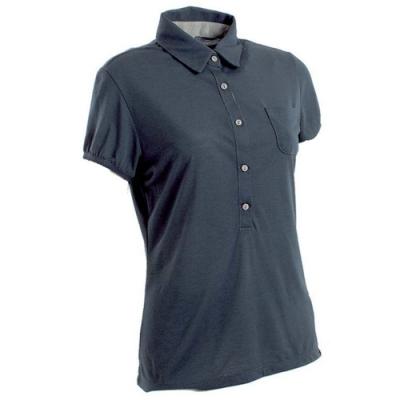 法國【EiDER】女排汗透氣短袖POLO衫/  EIT2651灰藍