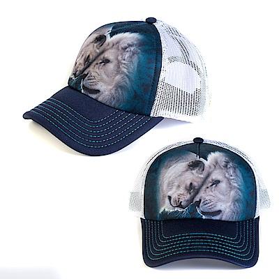 摩達客美國The Mountain白獅之愛藝術棒球帽網帽5-Panel新五分割帽