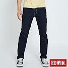 EDWIN 加大碼JERSEYS 迦績涼感 藍袋花窄直筒牛仔褲-男-原藍色
