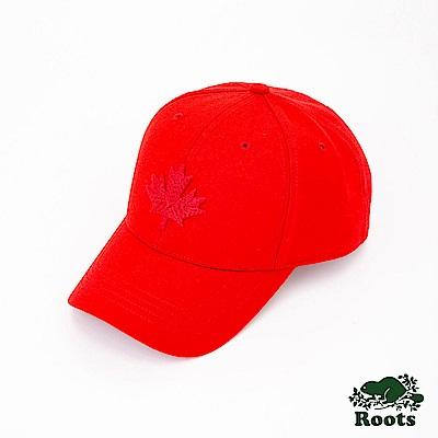 Roots配件- 摩登楓葉棒球帽-紅