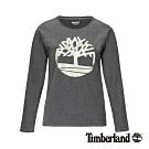 Timberland 女款深灰色圓領長袖T恤|B4509
