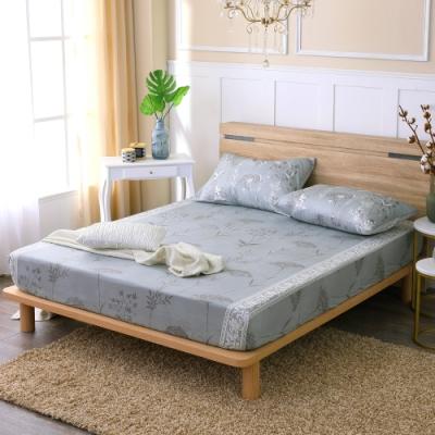 鴻宇 100%精梳棉 艾米堤 灰 雙人加大床包枕套三件組