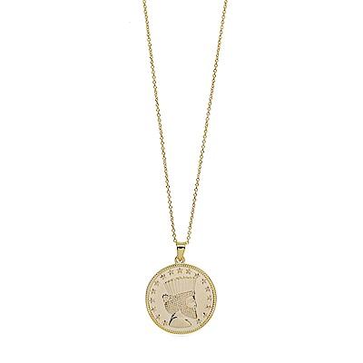 Dorsey 美國時尚品牌 LUNA領導之星圓牌金色項鍊