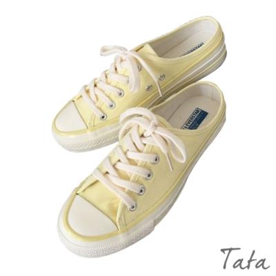 無後跟懶人帆布鞋 共三色 TATA