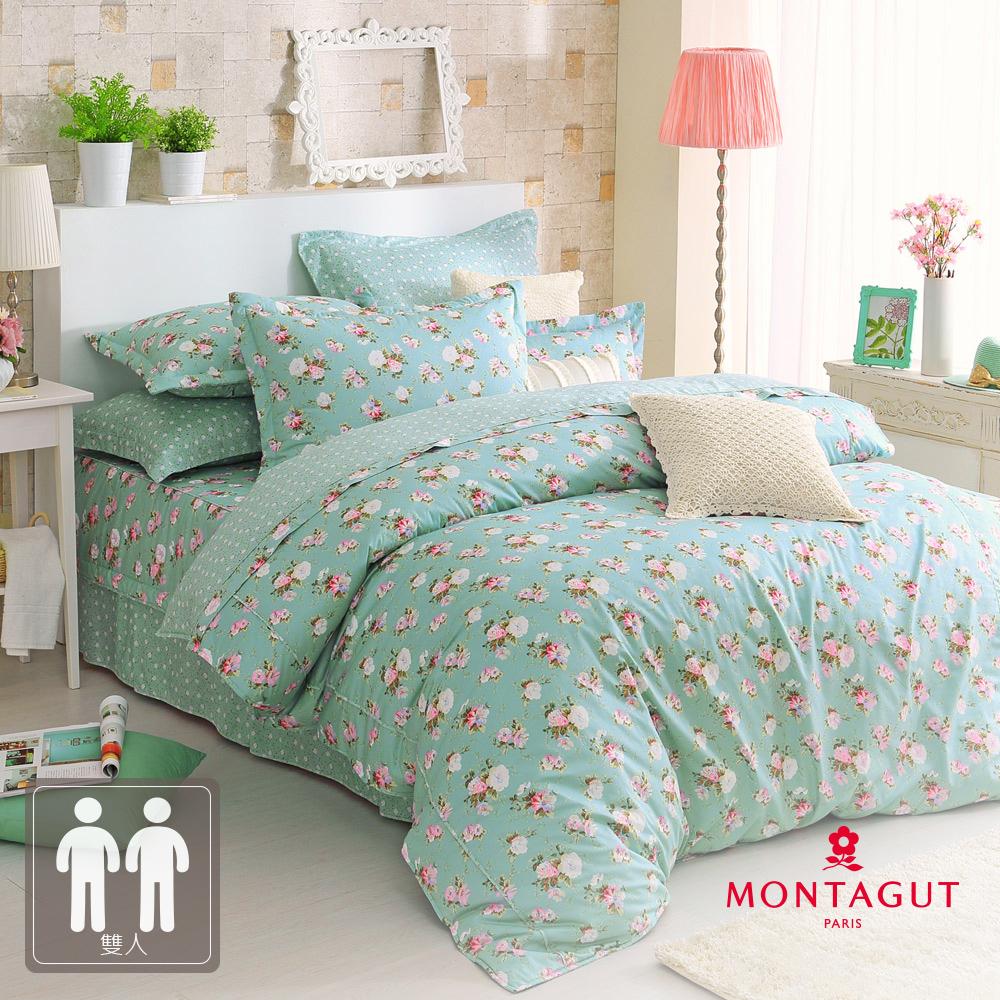 MONTAGUT-戀戀薄荷-200織紗精梳棉-七件式鋪棉床罩組(雙人)
