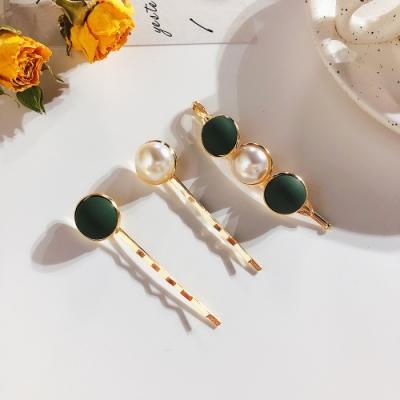 Hera 赫拉 磨砂珠珠珍珠合金髮夾3件組-2款