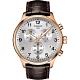 TISSOT天梭 韻馳系列 Chrono XL計時手錶-銀x玫塊金框x咖啡錶帶/45mm T1166173603700 product thumbnail 1