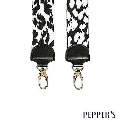 PEPPER`S Rebellion 編織斜背帶 - 黑白豹紋