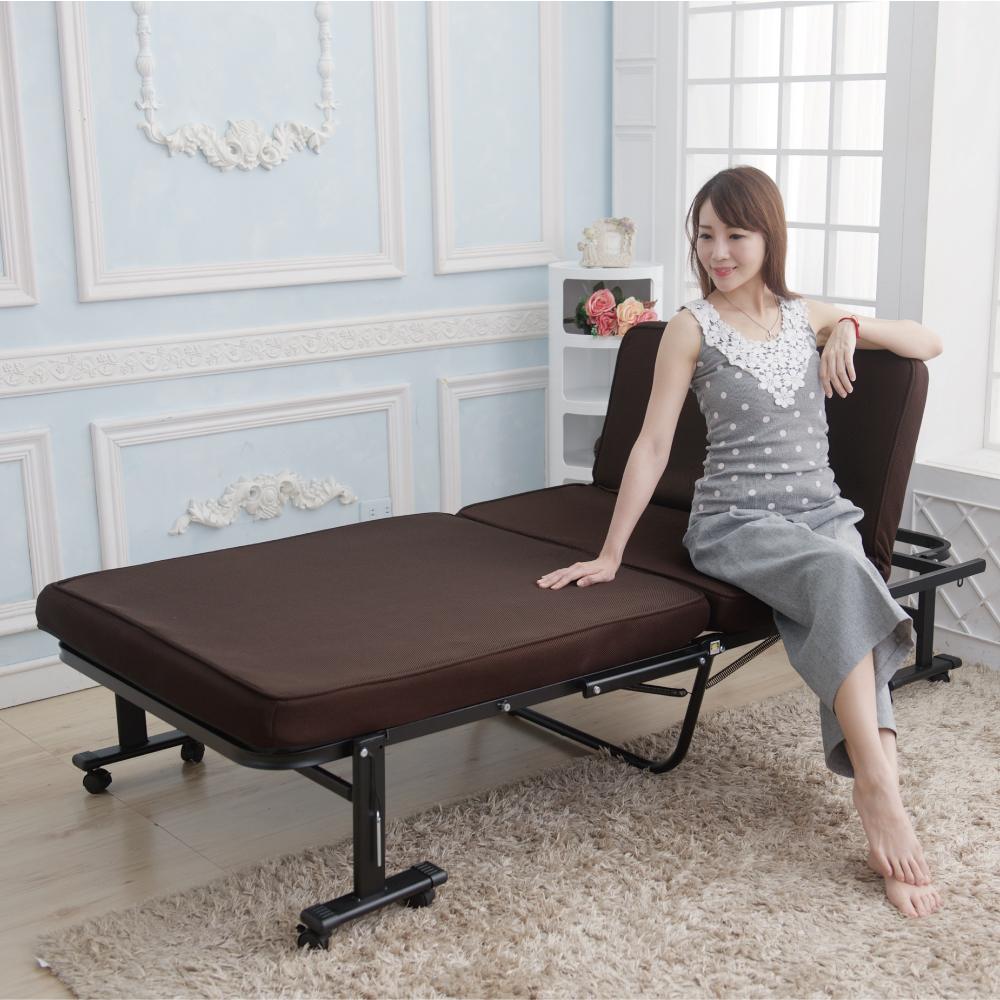 Simple Life增高型14段免組裝折疊床(贈記憶棉床墊)-MTN