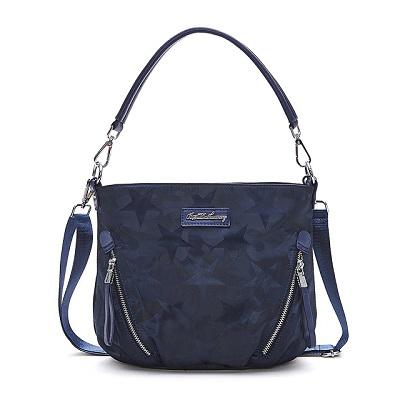 B.S.D.S冰山袋鼠-香巧班尼x直立式造型手提側背兩用包-炫彩藍