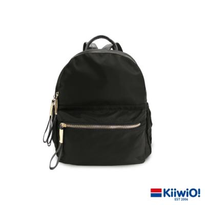 Kiiwi O! 質感防潑尼龍雙層後背包 JANET 黑
