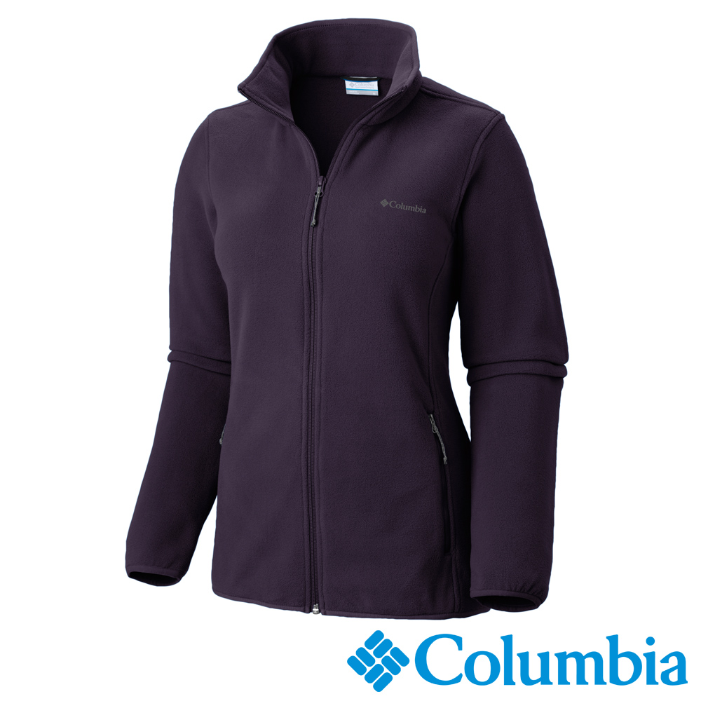 Columbia 哥倫比亞 女款-立領刷毛外套-暗紫 UAR67640DL