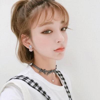 梨花HaNA 韓國925銀美麗世代四葉草鑽石珍珠耳環