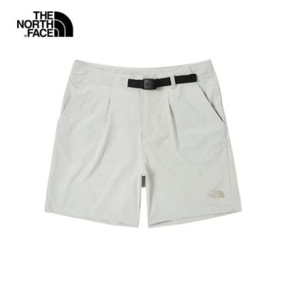 The North Face 女 吸濕排汗短褲 米白-NF0A496O9B8
