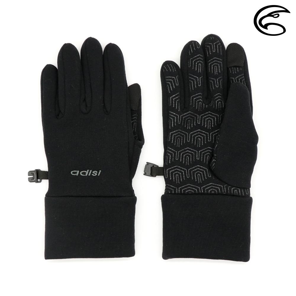 【ADISI】Power Stretch 保暖觸控手套 AS20055 (M-L) / 黑色