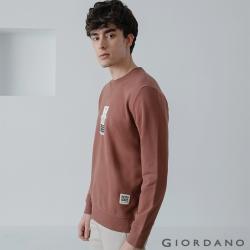 GIORDANO 男裝 Retro Wave復古大學T恤-12 黑褐色